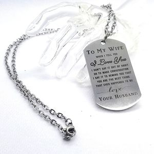 ❤3/20. Silver toned stainless steel dog tag chain necklace.
